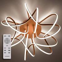 Люстра светодиодная с пультом LUMINARIA LIANA MUSE 80W R600 ANTIQUE/GOLD 220V IP20