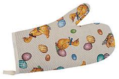 Гобеленовая кухонная рукавица/ прихватка 17х30