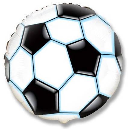 """Круг 18"""" FLEXMETAL-ФМ Футбольный мяч - черный, фото 2"""