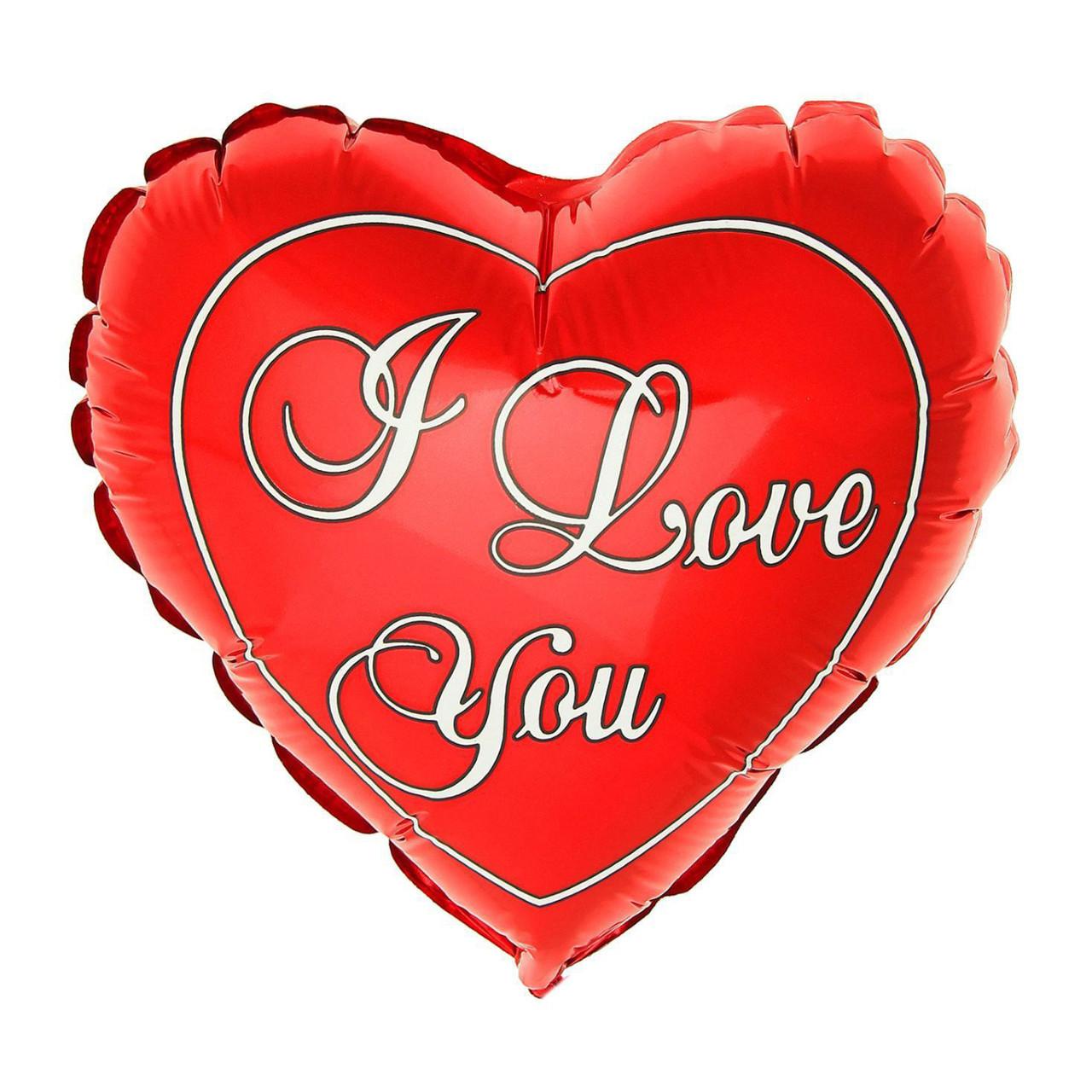 "Фол куля фігура 24"" (60 см) Серце Я люблю тебе I love you (ФМ)"