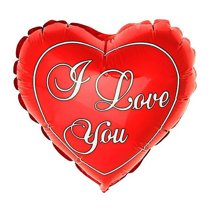 """Фол куля фігура 24"""" (60 см) Серце Я люблю тебе I love you (ФМ), фото 2"""