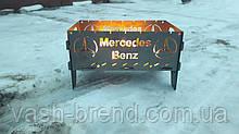 Автомобильный портативный складной мангал с чехлом кр-1 mercedes-benz на 7 шампуров