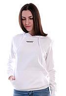 Худі з капюшоном жіноча біла на флісі BEE NICE, фото 1