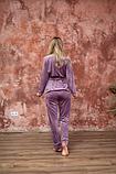 Домашний женский плюшевый комплект халат и штаны, фото 6