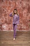Домашний женский плюшевый комплект халат и штаны, фото 7