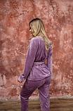Домашний женский плюшевый комплект халат и штаны, фото 8