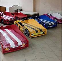 Кровать-машинка Elit E-6 матрас + мягкий спойлер + подушка, фото 2
