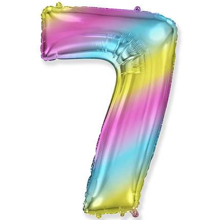"""Цифра 40"""" FLEXMETAL-ФМ 7 градиент (УП), фото 2"""
