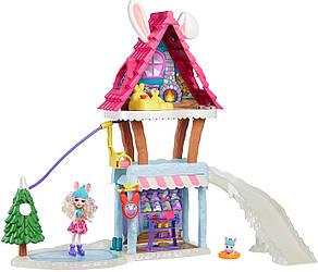 Игровой набор EnchantimalsЗимний домик Кролика Hoppin' Ski Chalet with Bevy BunnyОригинал