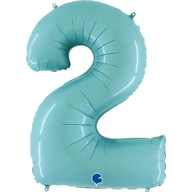"Цифра 40"" GRABO-ГР 2 пастель аквамарин (УП)"