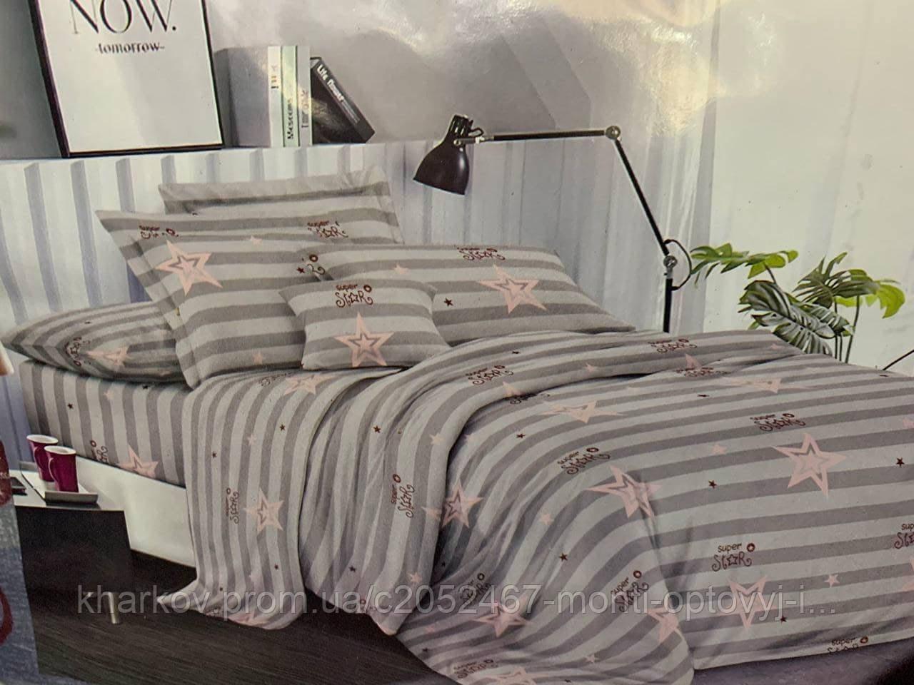 Євро комплект двухспального постільної білизни в стильному дизайні
