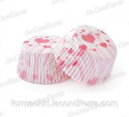 Формочки для кексів «Серце на паличці» 7a (Ш 50, бортик – 30 мм), 2000 шт.