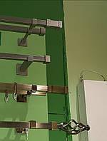 Карниз для штор  КВАДРО 2.4 м двойной  20*20 мм в сборе.