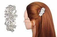 Заколка для волос Callisia со стразами, автоматическая, металл, разные цвета, женская заколка, заколка-автомат, фото 1