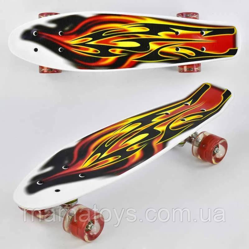 Скейт F 4380 Best Board Пенни борд 55 см, колёса PU Светятся, d = 6 см