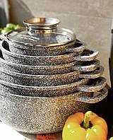 Набор кастрюль (казанов) с гранитным покрытием Edenberg EB-8144 Набор кухонной посуды 12 предметов