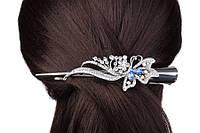 Заколка для волос Стрела со стразами, зажим, 13см, металл, разные цвета, женская заколка, заколка-зажим, фото 1