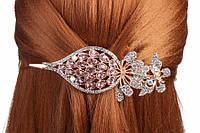 Заколка для волос стрела с цветами, зажим, металл, разные цвета, женская заколка, заколка-зажим, фото 1