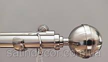 Карниз для штор КАЛІСТО подвійний 25+19 мм 2.4 м Колір Сталь