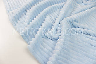 Minky Stripes плюш голубого цвета  350г/м2 № с-66