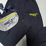 Костюм спортивный модный красивый оригинальный демисезонный синего цвета с сумкой для мальчика., фото 3