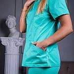 """Женская медицинская блуза """"Avicenna"""" салатовая, фото 9"""