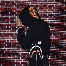 Мужская кофта с капюшоном Bape толстовка с акулой