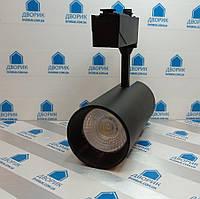 Светильник трековый LED 30W 2400LM 6500K чёрный / LM564-30, фото 1