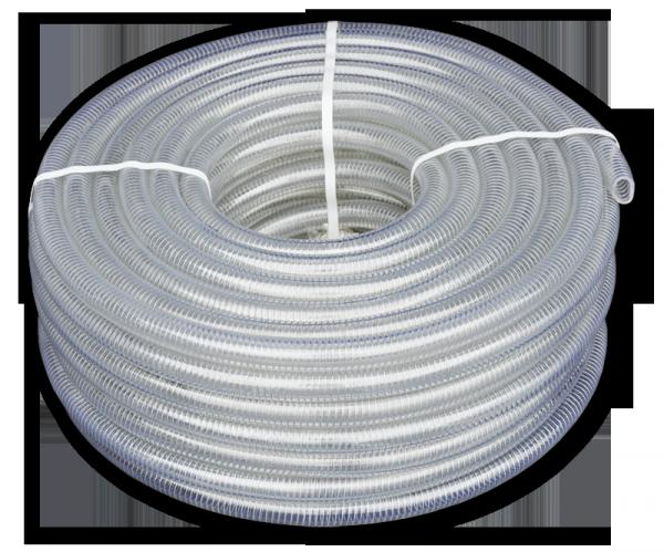 Шланг вакуумно-напорный, METAL-FLEX, с оцинкованной  спиралью, 40мм/30м, MF40