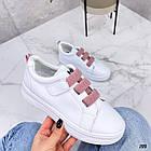 Женские белые кроссовки, экокожа, фото 6