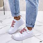 Женские белые кроссовки, экокожа, фото 2