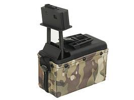 Електро-бункерний магазин M249 на 1500 куль - OLIVE [BattleAxe] (для страйкболу)