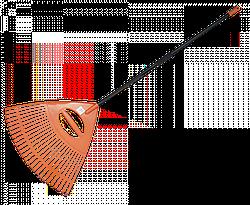 Грабли веерные - 26 зубцов, черенок металлический,  KT-CXGH26-M