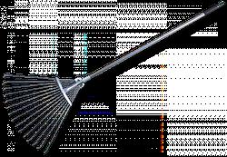 Граблі віялові, регульовані, металеві, KT-W120-1