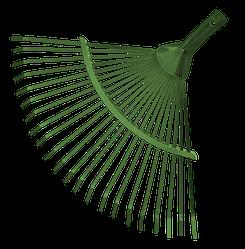 Граблі віялові металеві (без держака), KT-W004A