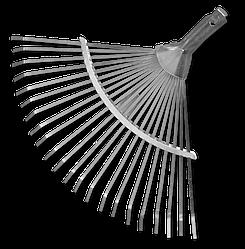 Граблі віялові, регульовані, KT-W008A