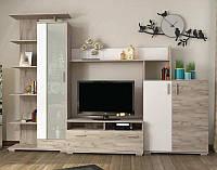 Вітальня (Стінка) Сокме Поло 290×206×46,5/37 дуб крафт сірий/ білий