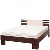 Ліжко Світ Меблів Елегія (+каркас) 160×200 лімба шоколад/клен
