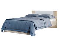 Ліжко двоспальне Світ Меблів Лілея Нова (+каркас) 160х200 дуб сонома/білий, фото 1