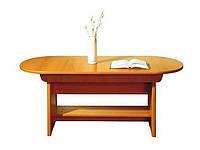 Журнальний стіл Gerbor Поп klaw/s/142 1420/1820х590/750х71,5 вільха