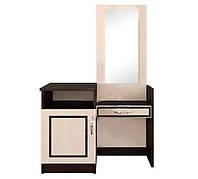 Туалетка+дзеркало Світ Меблів Кім 93×141.5×41 венге темне/венге світле, фото 1