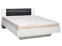 Ліжко полуторне Світ Меблів Круїз (+каркас) 140×200 білий/дакар