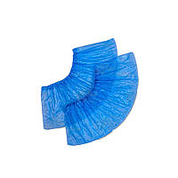 Бахилы из полиэтилена Timpa, упаковка 100 шт, цвет голубой