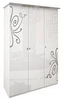 Шафа MiroMark Богема 3Д 139х212,5х63 білий глянець, фото 1