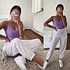 Женские спортивные штаны с высокой посадкой