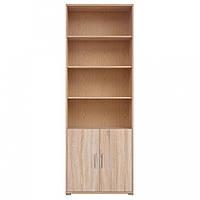 Книжкова шафа Gerbor Офіс лайн REG2D/220 79х221х35 дуб сонома