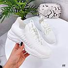 Женские белые кроссовки, обувной текстиль, фото 5