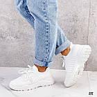 Женские белые кроссовки, обувной текстиль, фото 2