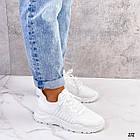 Женские белые кроссовки, обувной текстиль, фото 4