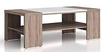 Журнальний стіл Gerbor Доменіка LAW/120 120х42х60 дуб сонома темний/білий глянець, фото 1